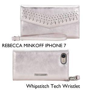 Rebecca Minkoff Whipstitch Iphone Wristlet Wallet